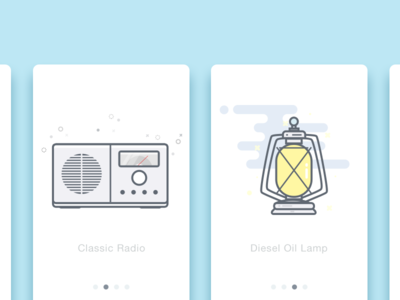 Radio&Lamp fm flat icon lamp radio design color ui