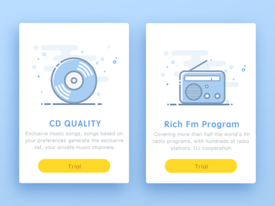 Music Pay Package illustration ui pay board card fm music flat app color design