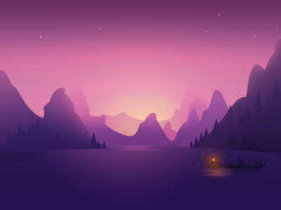 The quiet lake by kawen dribbble - 2d nature wallpapers ...