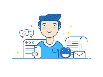 Self Timer II self-timer web emoji icon mobile line color illustration