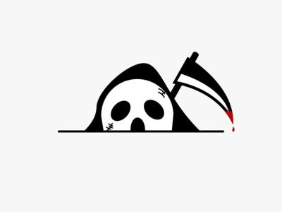 Death design death line color illustration