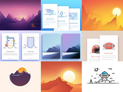 Popular Nine Of 2016 best popular 2016 design line color illustration