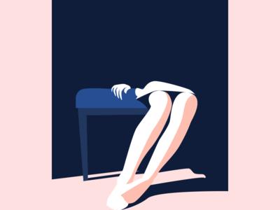 Girl In Shadow color shadow girl illustration
