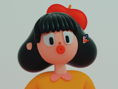 MONITA DE PLÁSTICO cinematic artist character design primary colors cinema4d cinemacharacter lowpolly creative 3d art