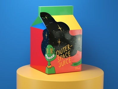 OUTER-SPACE JUICE c4dart c4d illustration alien colors juice branding design 3d character 3d illustration 3dcharacter 3d art creative