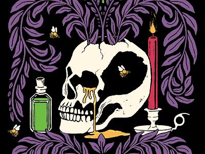 Illustration for DNEIPA with Honey beer label illustration design