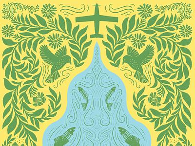 Illustration for NEIPA beer label beer illustration