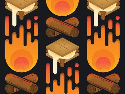 Illustration for S'more Stout beer illustration beer label