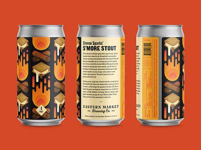 S'more Stout Label Design design beer illustration beer label