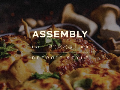 Assembly Pizza packaging pattern pizza branding branding