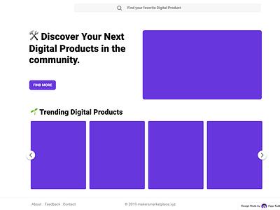 Makers Marketplace Landing Page marketplace ui ux design web  design landing page