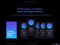 Makers Marketplace Landing Page | Dark Mode