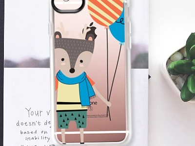 For Sale - Day Dream iPhone Case (Clear snap on)  fox design clear iphone case