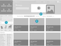 Pet Adoption UX Case Study - Browse for a pet - Wireframes