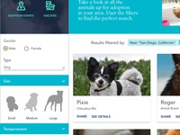 Pet Adoption UX Case Study - Browse for a pet - Visual