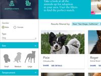 Pet Adoption UX Case Study - Browse for a pet - Visual