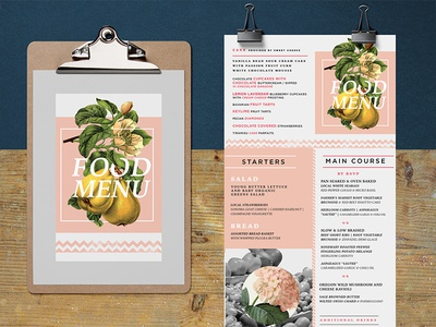 Food menu - rebound ui print design menu