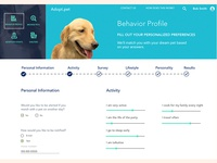 Pet Adoption UX Case Study - Behavior Profile Visual