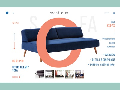 West Elm Product Page Concept
