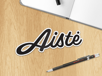 Aiste sticker for StickerMule