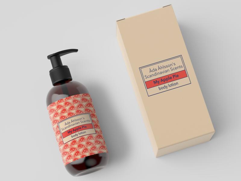 Apple pie illustrator beauty artwork art pie apple package packaging branding cosmetic illustration design