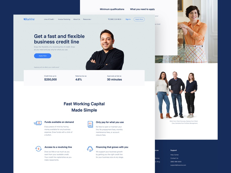 Line of Credit credit redesign. redesign typography design web site design web web-design typorgraphy fin-tech fin tech