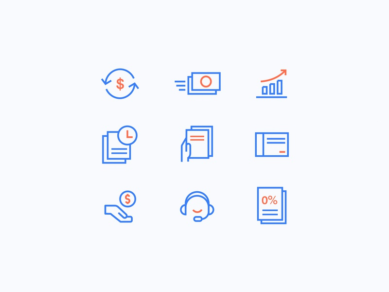 Icons icons design icon artwork icons set icons design redesign credit web fin-tech fin tech