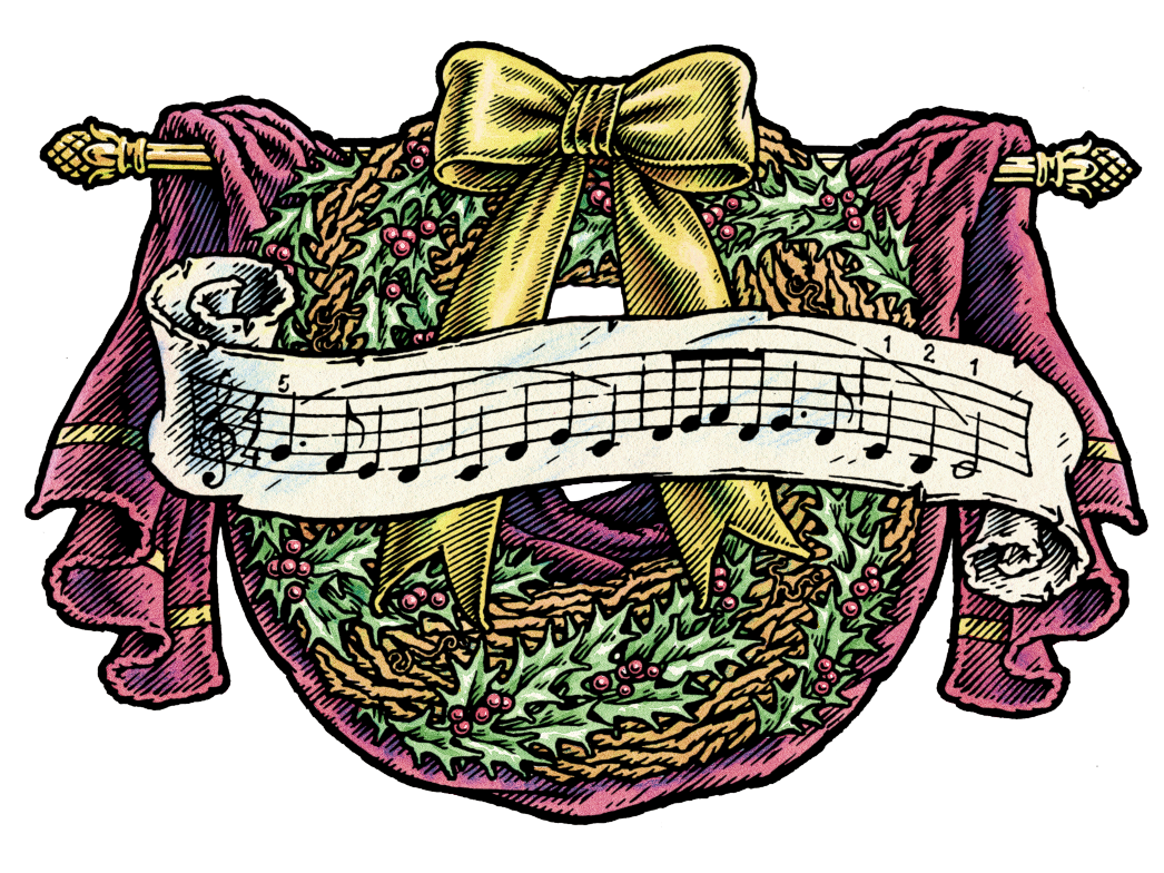 A Musical Christmas Wreath By Ken Jacobsen Dribbble Dribbble