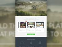 Homepage design (WIP)