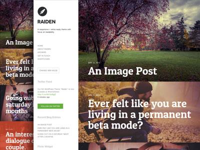 Raiden WordPress Theme theme wordpress minimal reading blogging