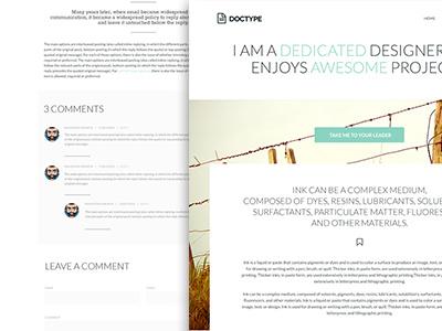 Doctype WordPress Theme wordpress theme minimal whitespace