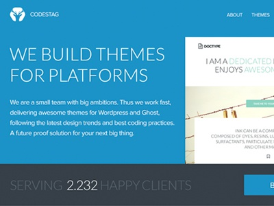 Site redesign flat theme theme shop