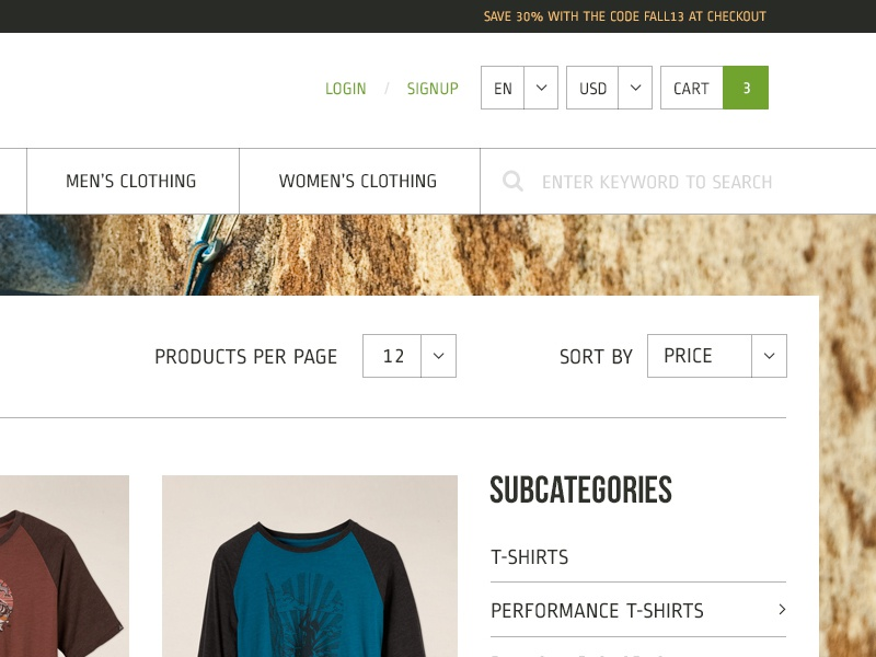 Category Page wordpress themeforest e-commerce woo