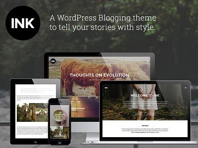 Ink - A WordPress Blogging theme wordpress blog theme narrative story themeforest storytelling photoblogging