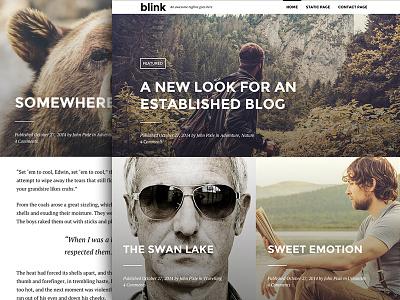 Blink - A WordPress Blogging Theme photo blogging wordpress theme blog design