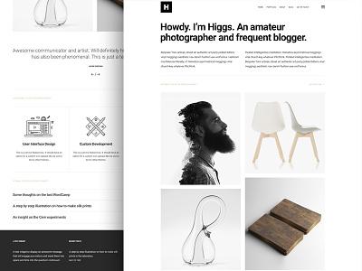 Higgs - A portfolio WordPress theme themeforest clean minimal theme wordpress