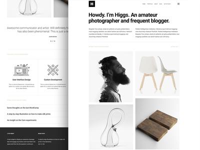 Higgs - A portfolio WordPress theme