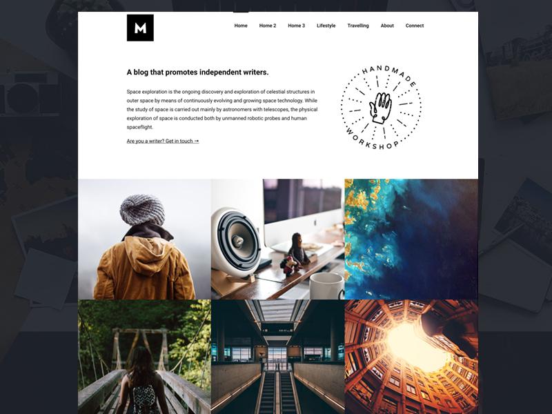 Mono - A Modular Blogging Theme for WordPress theme minimal themeforest blogging wordpress