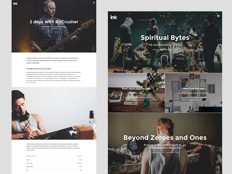 Ink theme update ui minimal blog theme wordpress
