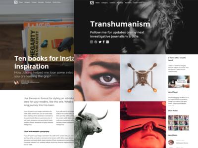 Blogging theme layout