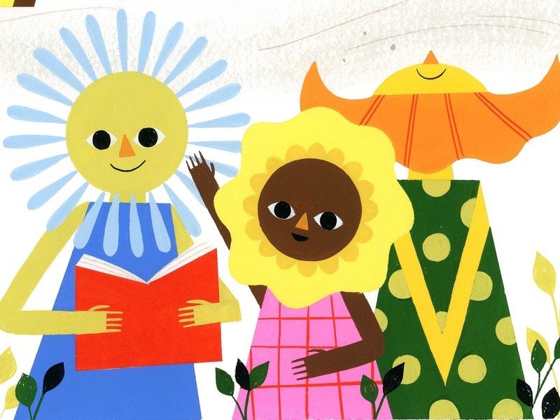 Why We Read - James Russell Lowell james russell lowell gibbs smith publishing books reading kids flowers retro visual development editorial lifestyle spot illustration icon gouache kidlit color design illustration
