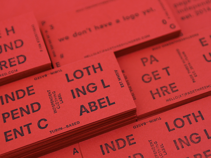 Hand Stamped Business Cards By Page Three Hundred Dribbble Dribbble