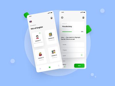 Foreign Course App .2 📚 ux design language learning language app foreign course design simple design ui design ui clean design minimalist app white mobile design mobile ui