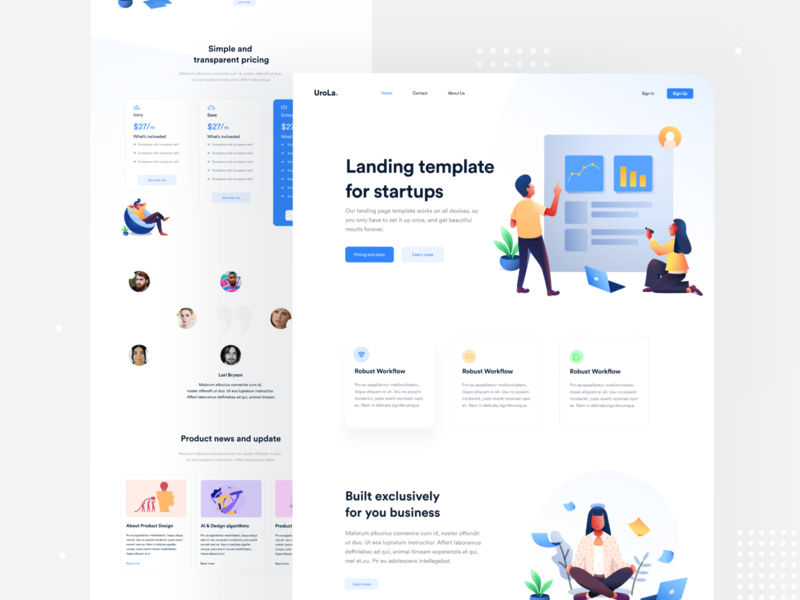 UroLa. - Landing Page landing asif howlader gfxgeek clean interface redesign app design figma landing page header e-commerce minimal dribbble branding ux web apps creative web design ui