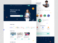 E-learning Courses - Landing Page branding typography 2020 trends smooth colors e-commerce website ux ui creative web design minimal dribbble landing page marketing development design business courses e-learning e-commerce