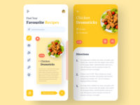 Food Recipe App flat recipe asif e-commerce trendy web apps minimal creative dribbble ux ui online book ios app delivery app food delivery app ui food app app design 2020 ui trends 2020 trend