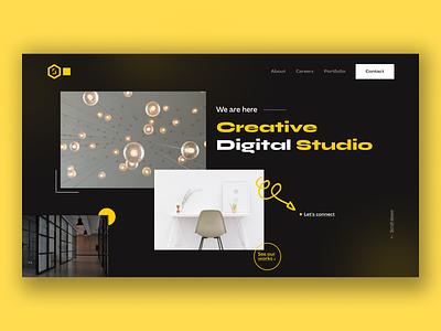Creative Digital Studio Website asif web header project 2021 trends design agency studio digital studio portfolio agency design flat landing page header branding web design trendy minimal creative ux ui