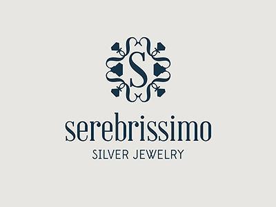 SEREBRISSIMO strict simple. serebrissimo crystals diamond s stones silver shop gold logo jewelry