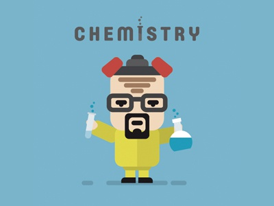Сhemistry flat experiment lab laboratory science chemistry vector illustration chemist heisenberg walterwhite breakingbad
