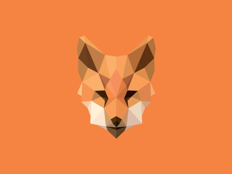 Fox logos polygons logoset lowpoly logo2016 mask illustration orange trend polygonal animals fox